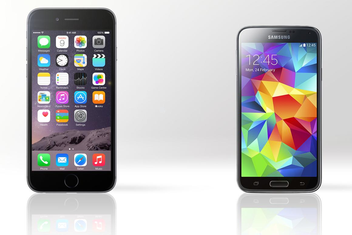 Gizmag compares the features and specs of Apple's first phablet, the iPhone 6 Plus, and Samsung's flagship Galaxy S5