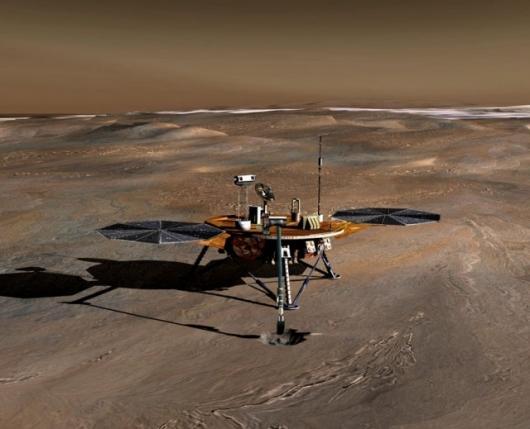 Artist's impression of NASA's Phoenix Mars LanderImage credit: NASA/JPL