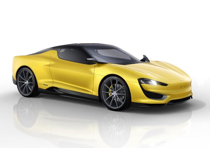 The Magna MILA Plus is a two-seater hybrid sports car concept