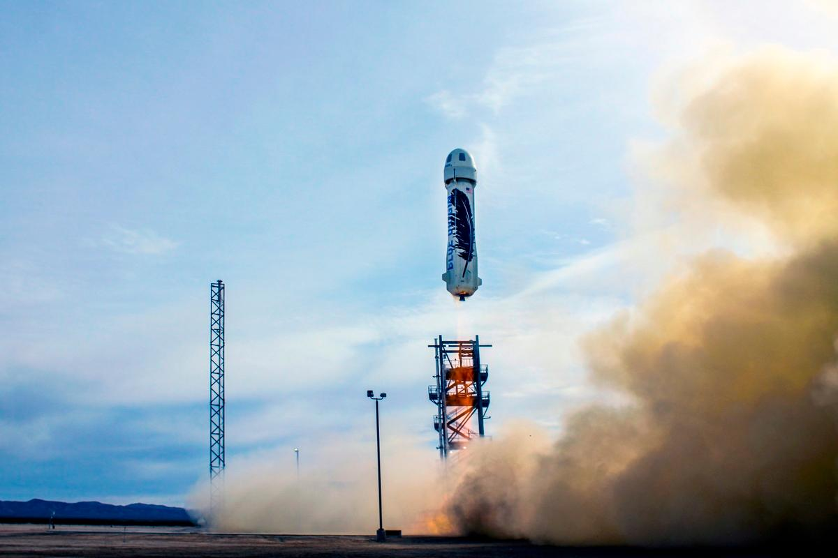Blue Origin's New Shepard has become the first reusable rocket to safely touch down following a test flight