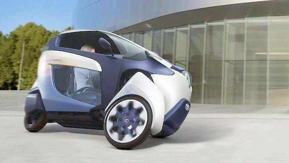 The Toyota i-Road is a tandem two-seater