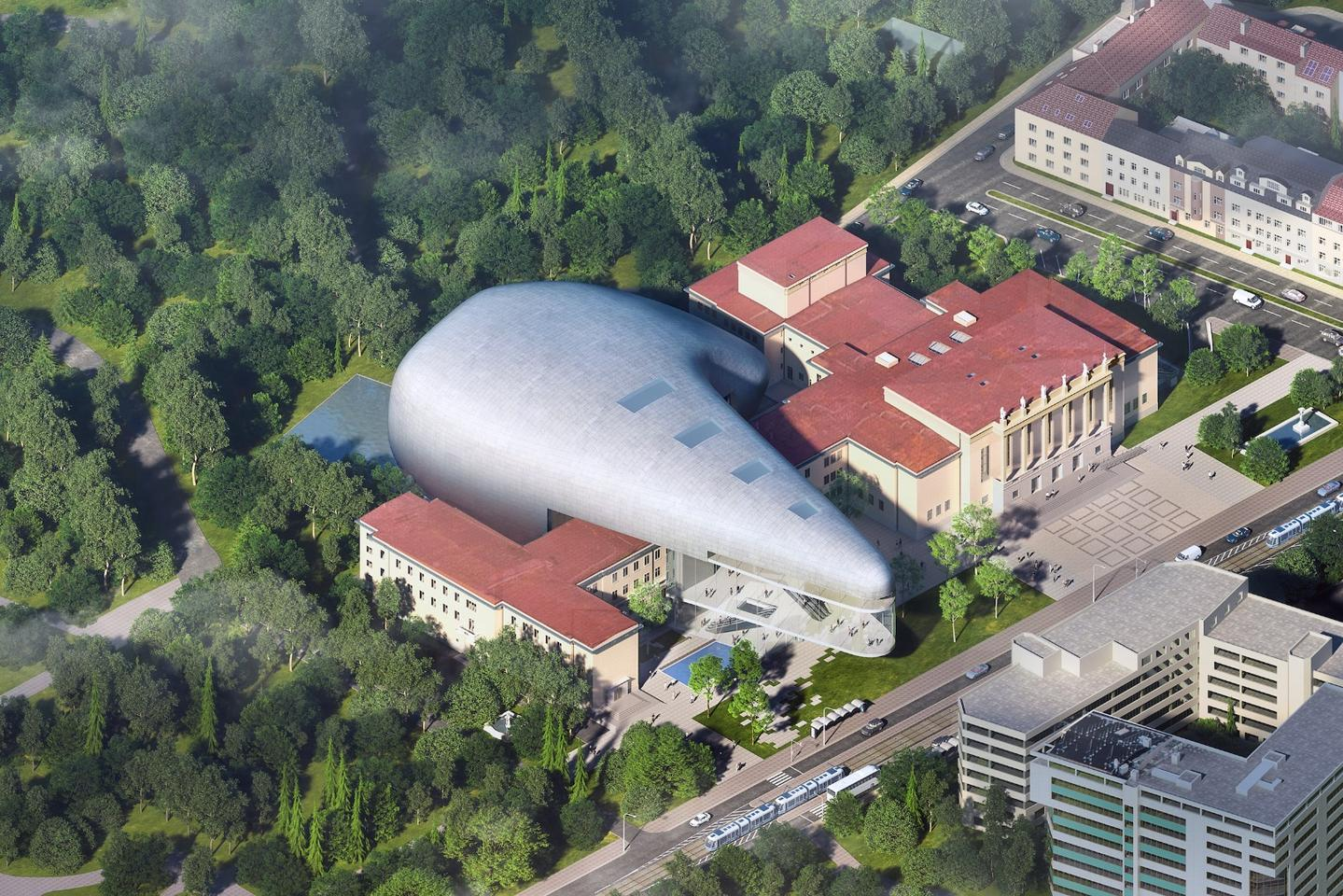 Assuming all goes to plan, the Ostrava Concert Hall is expected to be completed by 2023