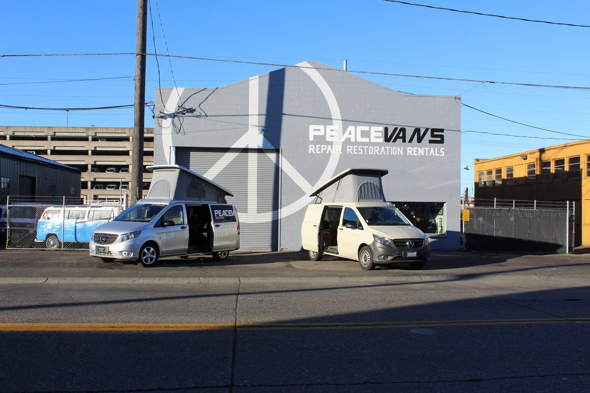 Peace Vans began as a VWcamper van restoration and repair shop, branching out into conversions in late 2017