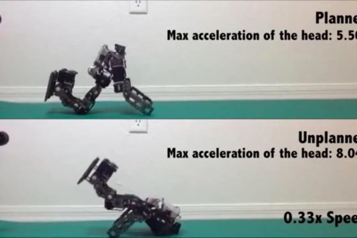 The team tested its algorithm using a BioloidGP humanoid robot
