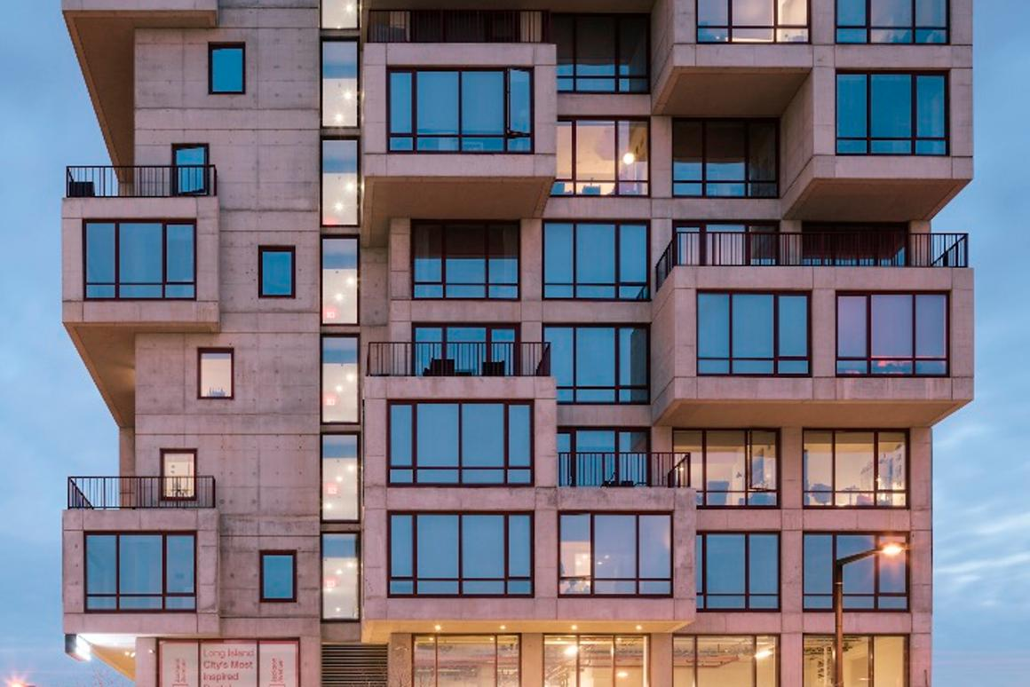 ODA says that the pushing out apartments in this waycreates 30 percent more outdoor space than would have been available without the protrusions