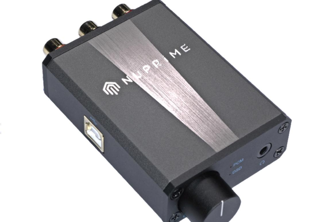 NuPrime's USB-powered, high resolution, portable DAC and headphone amp, the uDSD