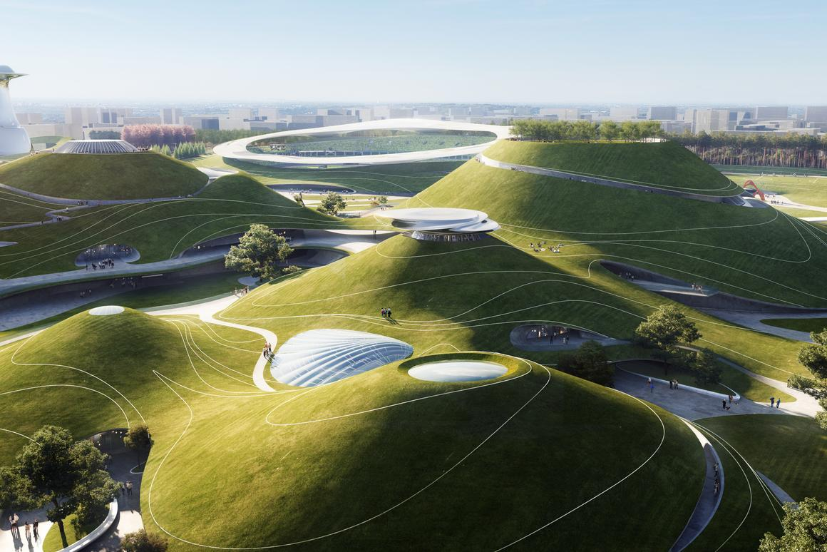 The Quzhou Sports Campus is a massive project and will measure 173 acres (70 hectares)