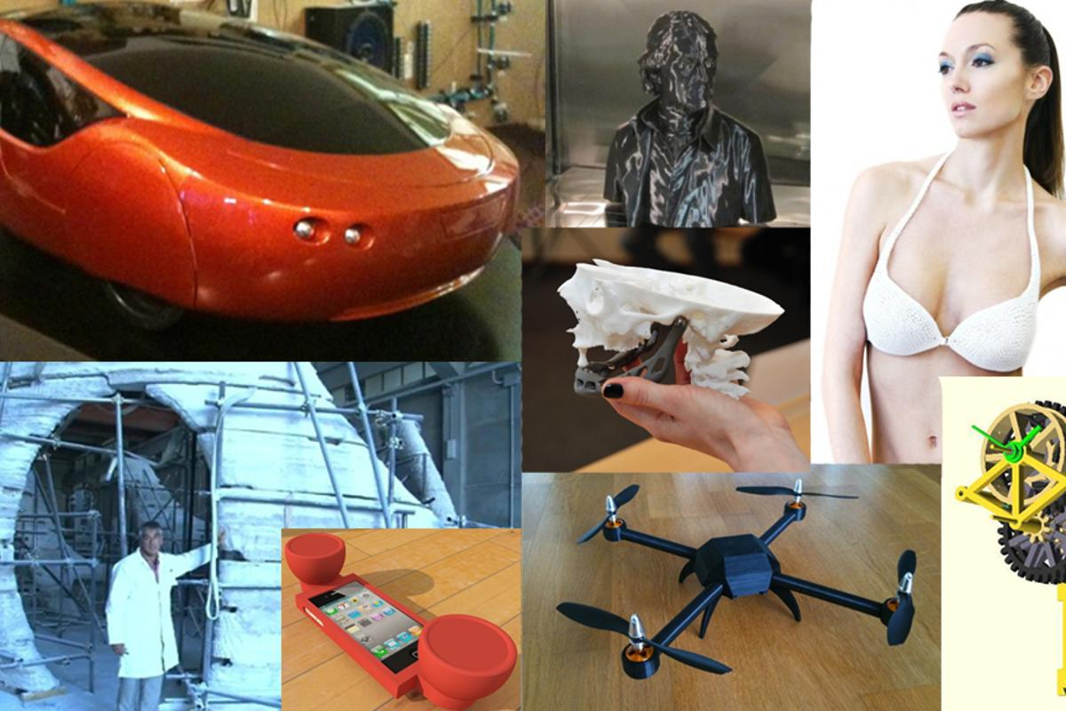 Some of the many and varied items produced using a 3D printer