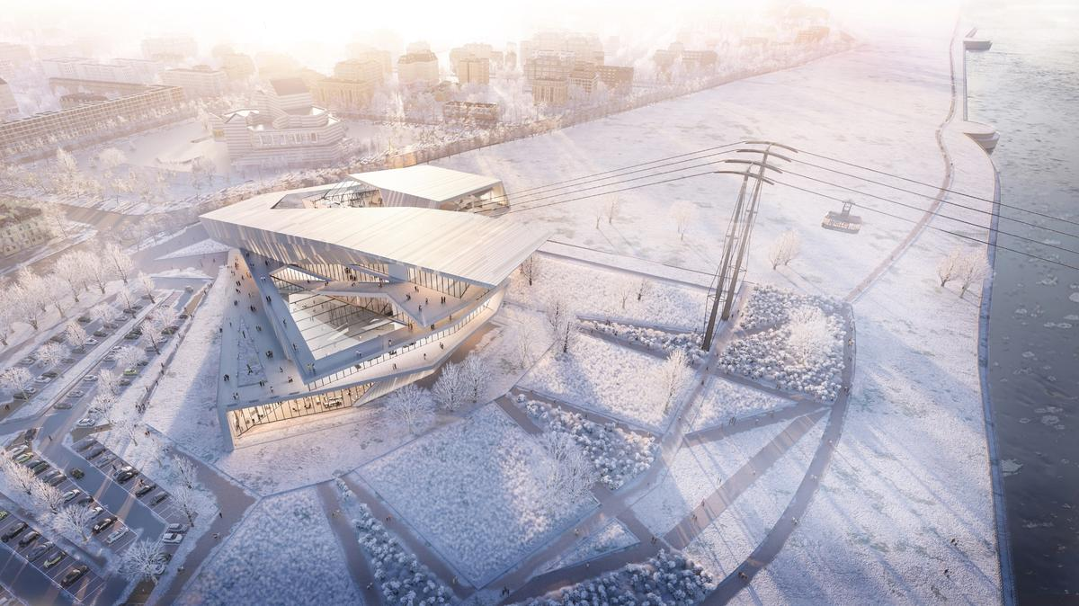 The Blagoveshchensk Cable Car Terminal will consist of two lines and four cabins, each with a capacity for 60 passengers