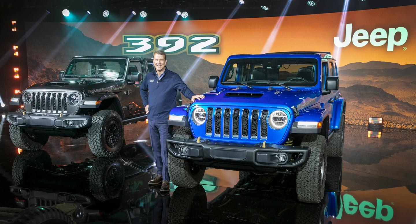 Jim Morrison, head of the Jeep brand, introduced the production 2021 Jeep Wrangler Rubicon 392