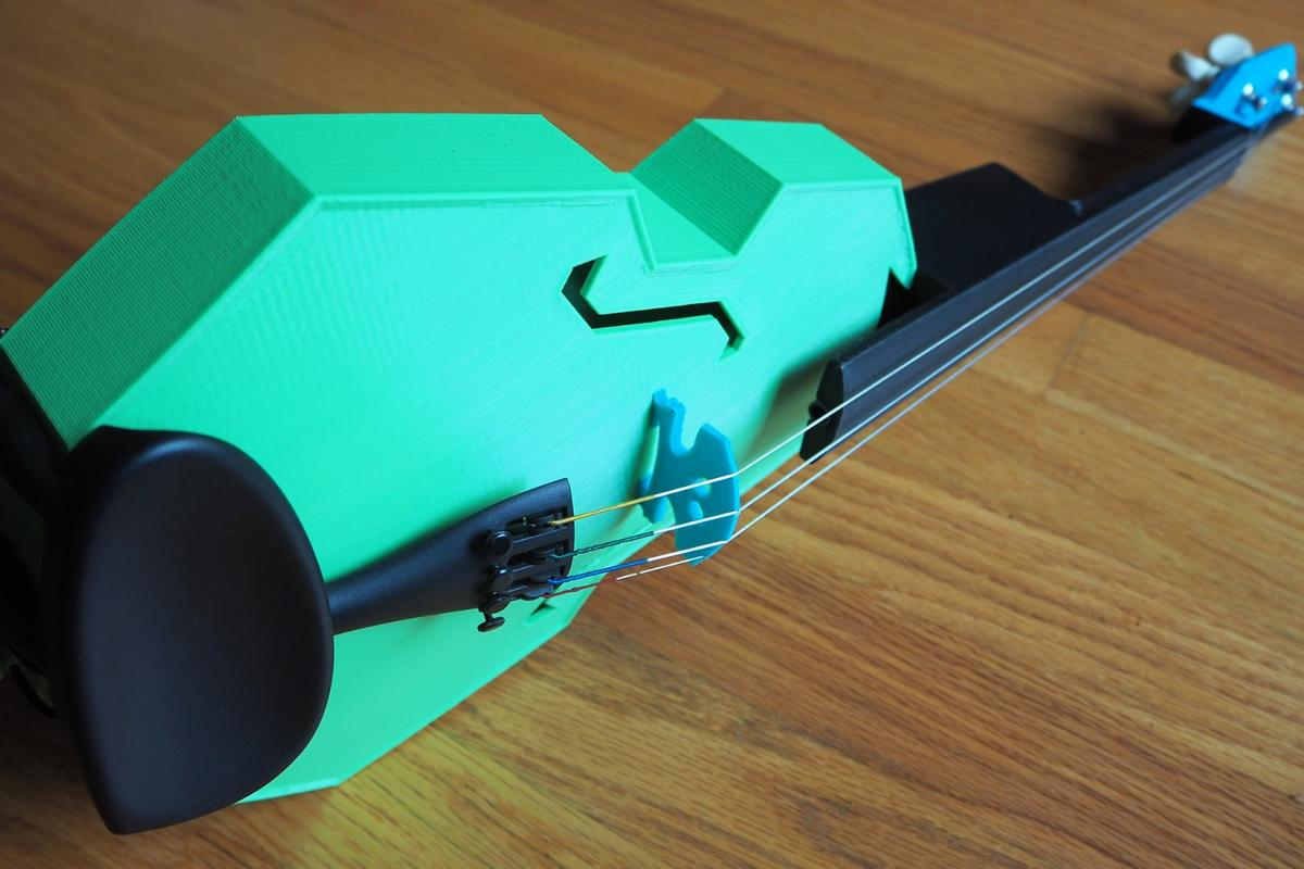 3D-printed parts of the Modular Fiddle can be changed in around 10 minutes