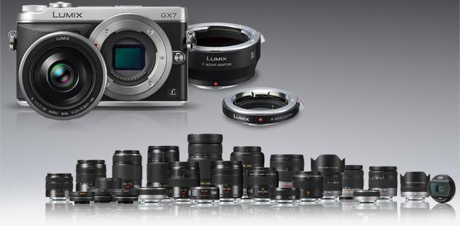 Classic lenses can be mounted onto the GX7 with an adapter fitted to the Micro Four Thirds lens mount