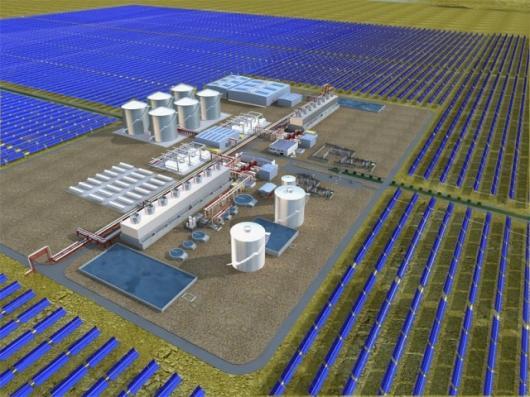 Planned 280-megawatt concentrating solar power plant
