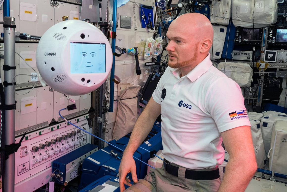 CIMON is a medicine-ball-sized robot to help astronauts with routine tasks