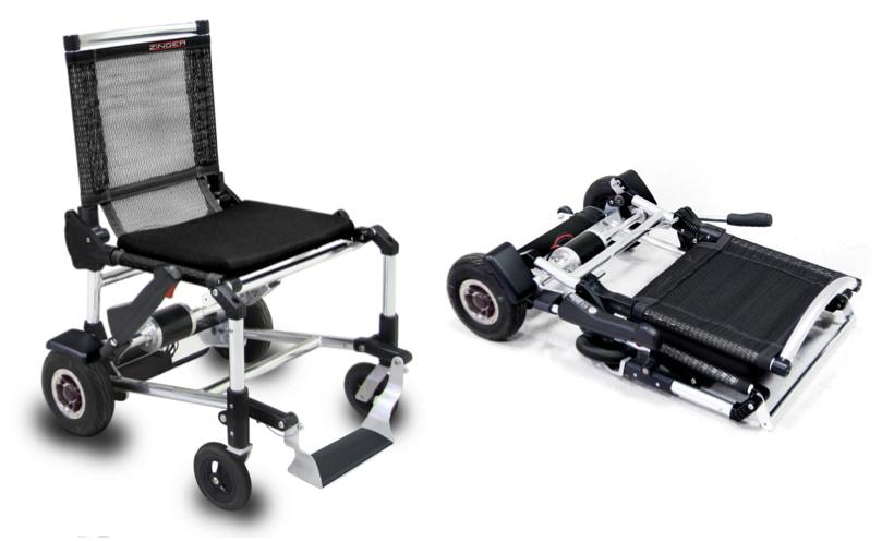 The Zinger weighs 38 pounds, and folds down to go in a car