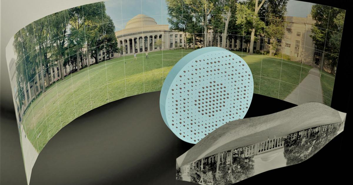 High-tech material used to create a thin, flat fisheye lens