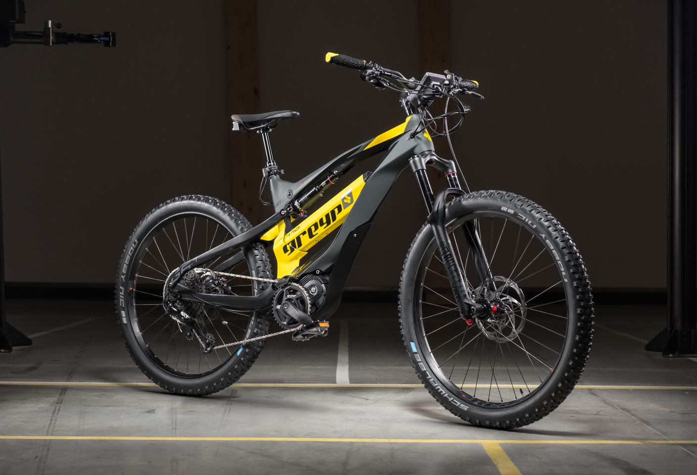 The Greyp G6 Bold FS model is the entry level bike of the range, priced at €6,499