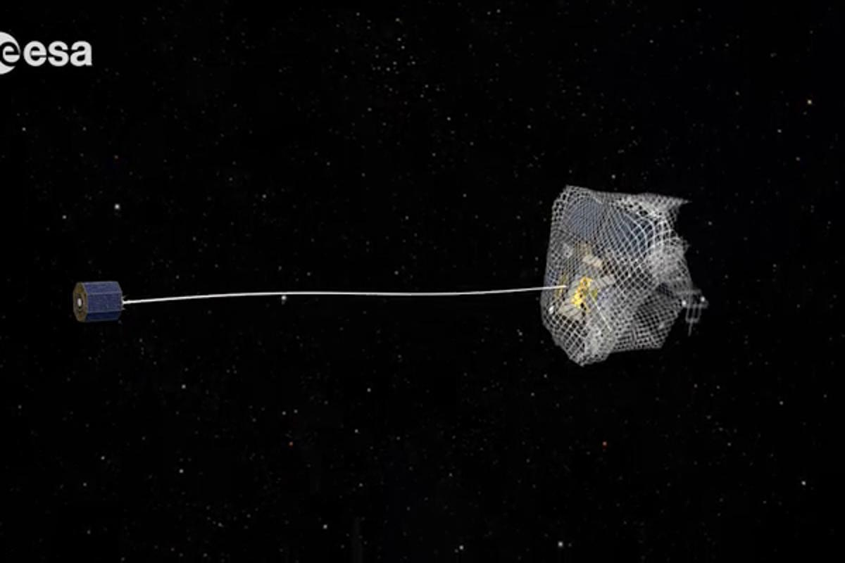 Netting a satellite (Image: ESA)