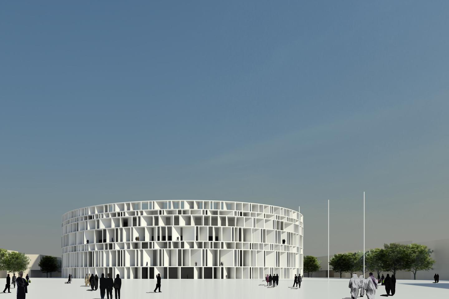 The Council of Representatives building at the heart of the design (Image: Assemblage)