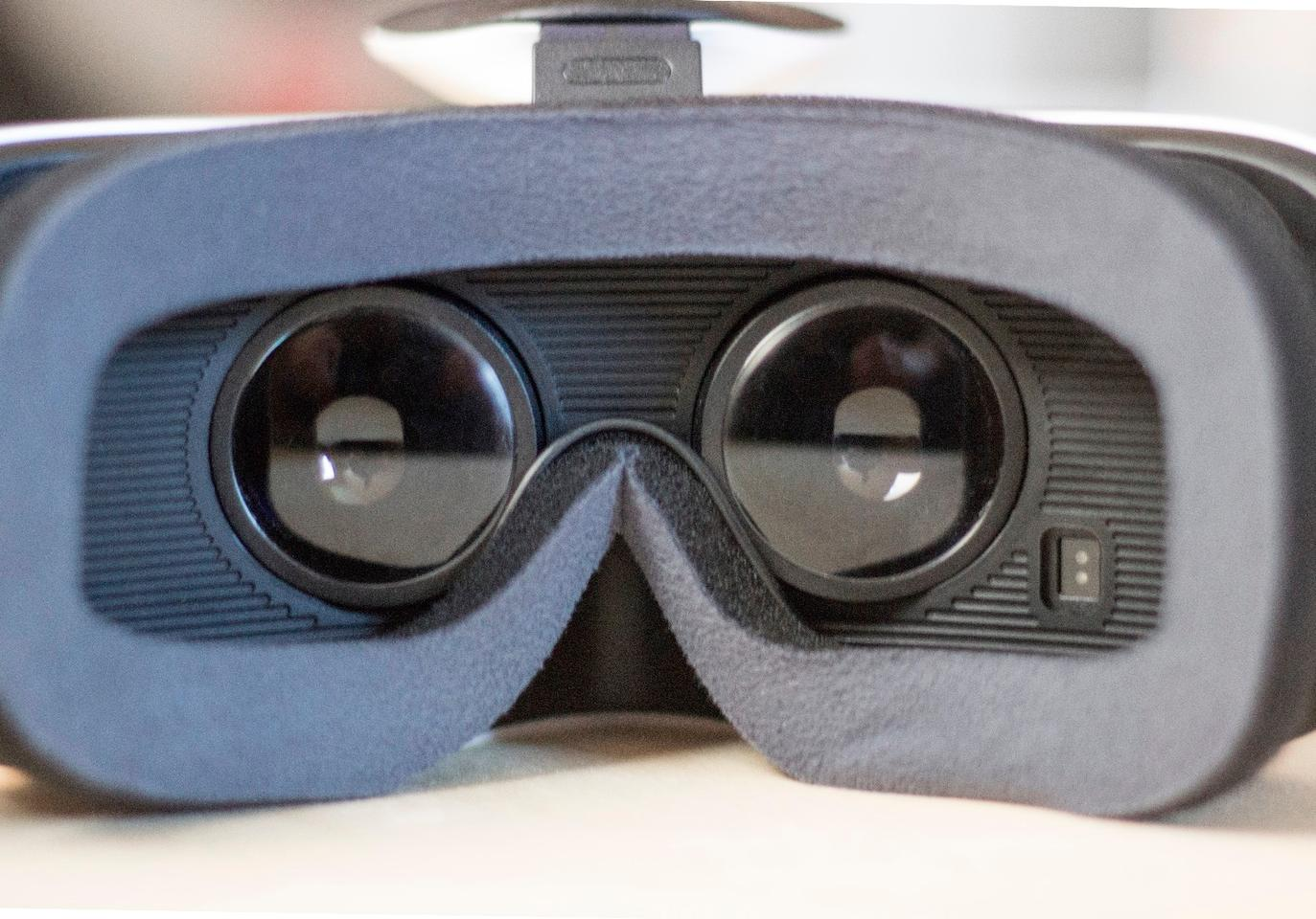Lens-facing side of the Samsung Gear VR