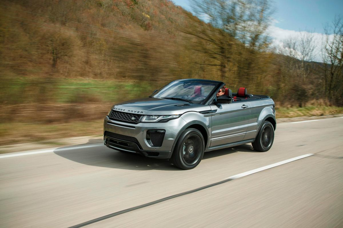 The Range Rover Evoque Convertible is billed as the first luxury compact SUV convertible