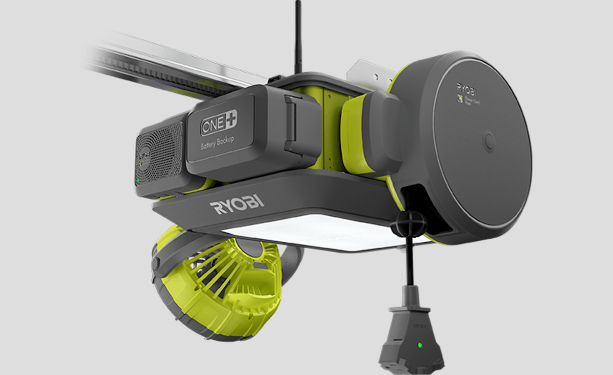 The Ryobi Ultra-Quiet Garage Door Opener can be kitted out to make your garage safe, or give it its own soundtrack