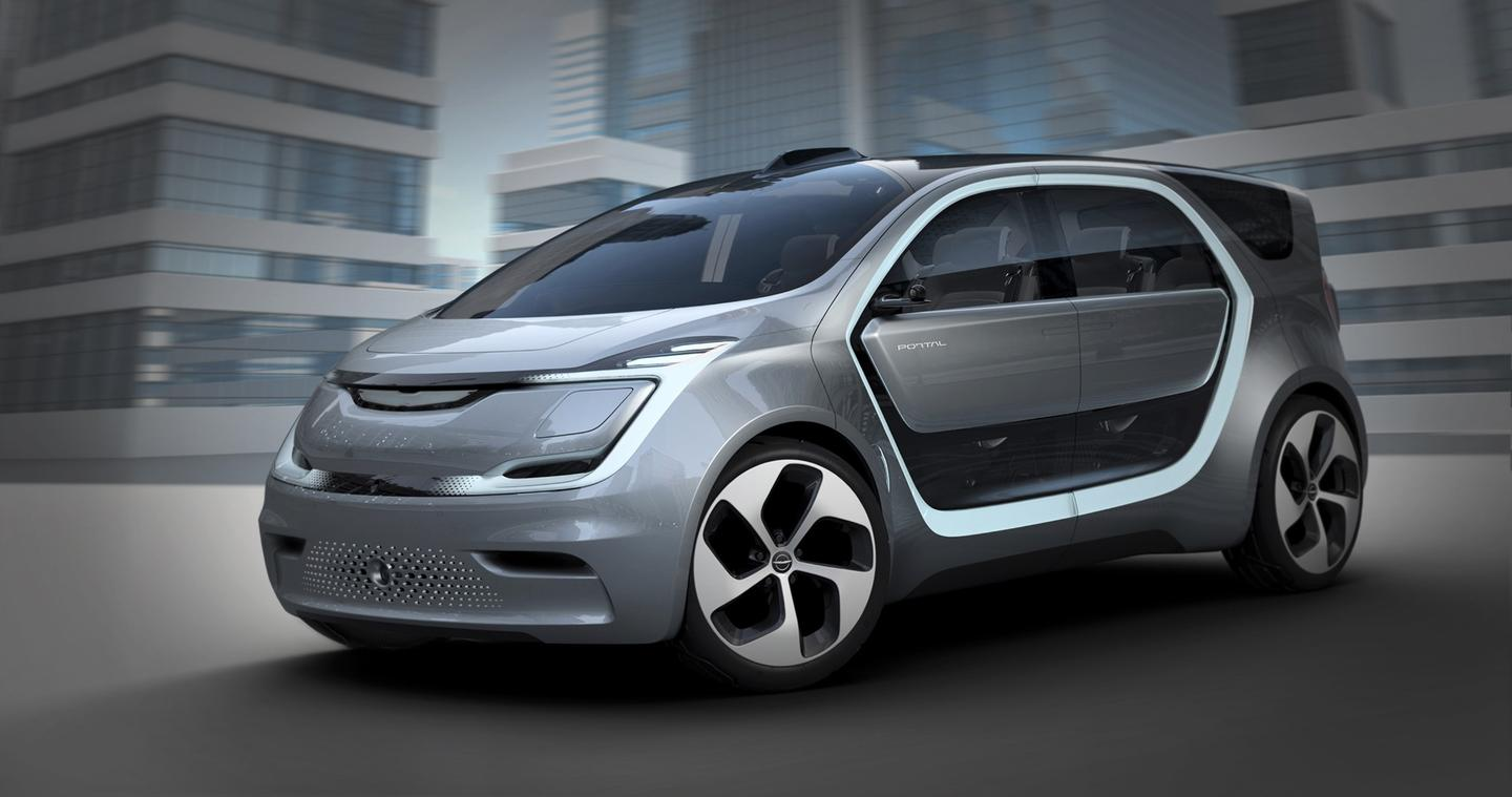 The all-electric, semi-autonomous Chrysler Portal Concept debuts at CES 2017