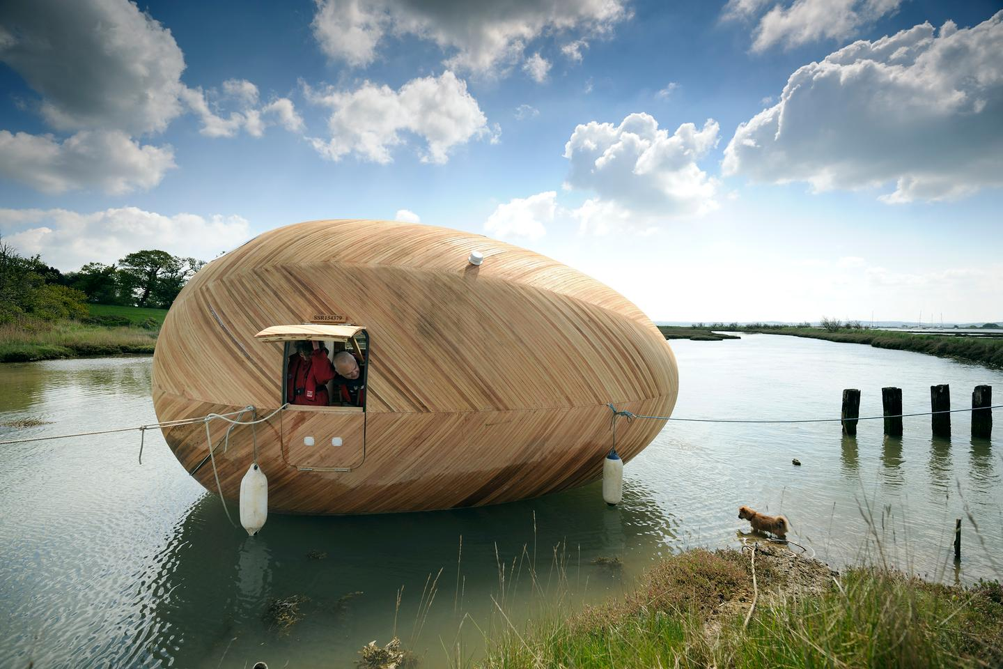 Exbury Egg is located on the shore of Beaulieu River (Photo: Nigel Rigden)