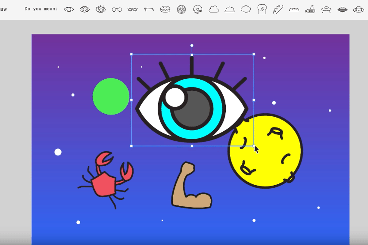 Google's Autodraw is a free web-based app that uses machine learning to identify what you're trying to scribble and replaces it with recognizable images