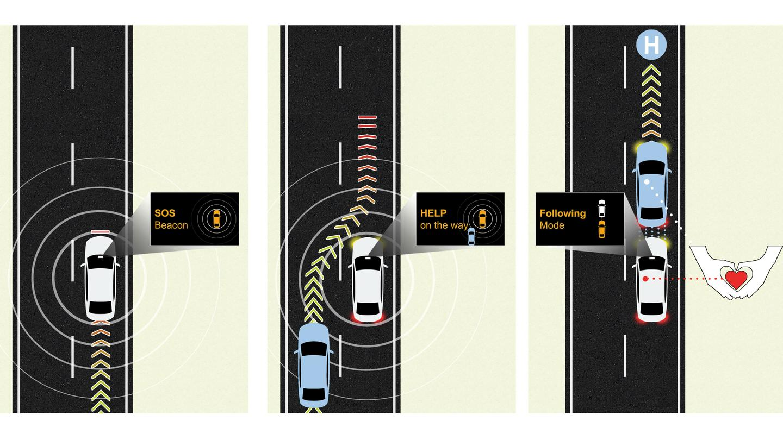 "Medical Emergency Assist using the Vehicle via Vehicle(V2V) ""Virtual Tow"""