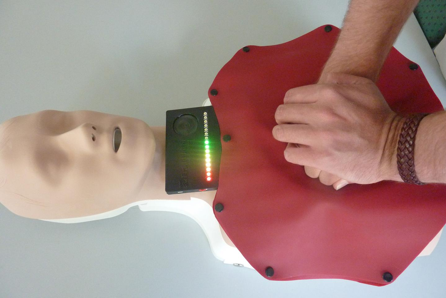 Unlike some similar devices, the mat utilizes soft sensors that don't hurt the user's hands