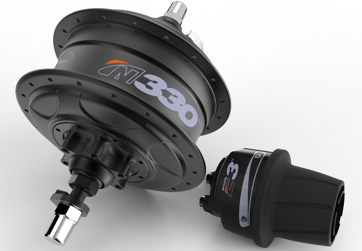 The NuVinci N330 planetary hub transmission, with its C3 controller