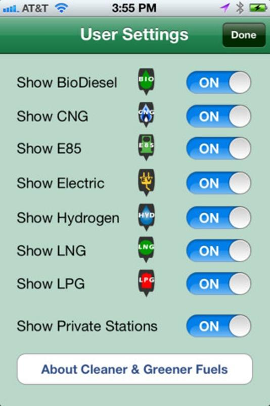The new Cleaner and Green Fuels app helps clean fuel drivers locate stations and allows them to expand the database
