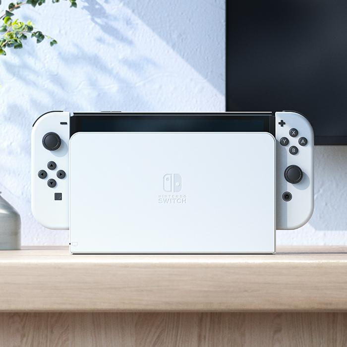 The Switch (OLED model) ships with a new dock, which includes a wired LAN port for improved connection stability