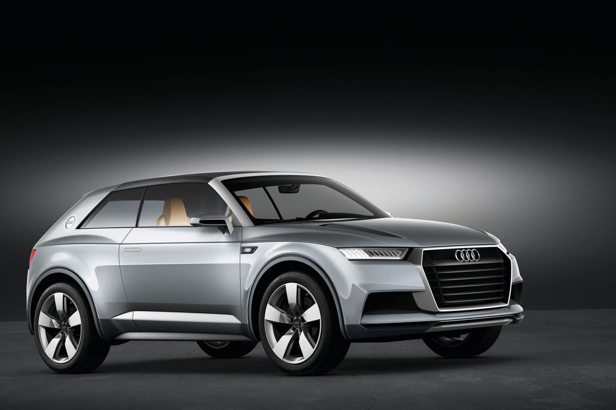 The Audi crosslane coupé concept unveiled in Paris