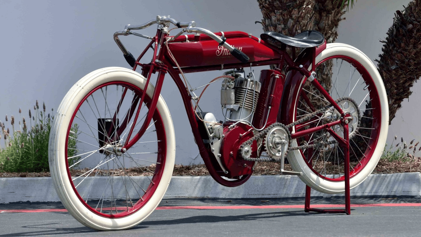 From the Venter Collection, this 1913 Indian Board Track Racer was restored by Jim Prosper, whose restorations are some of the most accurate. The bike uses an original 1913 Indian frame and engine and the bike has been museum displayed. It fetched $55,000.