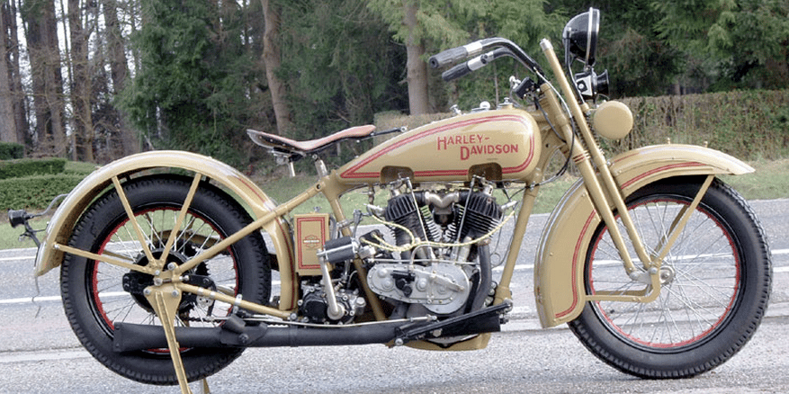 "This 1927 Harley Davidson Model JD dating from 1927 has formed part of private European collection and has benefitted from a comprehensive restoration that has seen the machine returned to, according to the owner, ""as new"" condition in every respect."