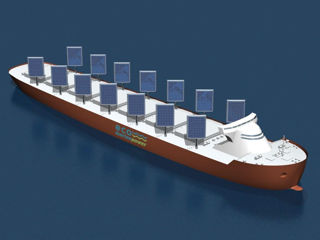 The Aquarius Eco Ship concept with an array of 14 EnergySails