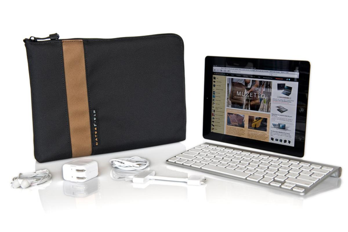 Waterfield Design's iPad Travel Express is a protective carrying case with extra room for various iPad accessories(All photos courtesy SFBags)