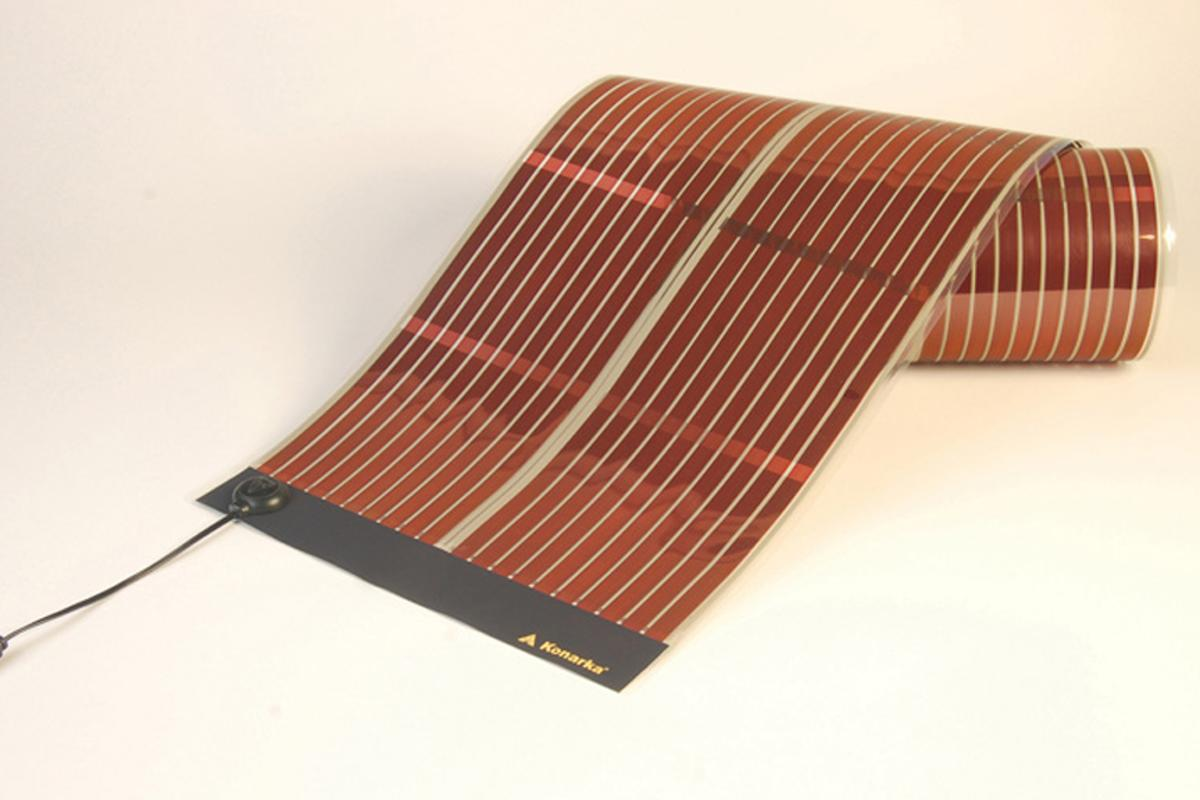 Konarka's flexible and lightweight Power Plastic