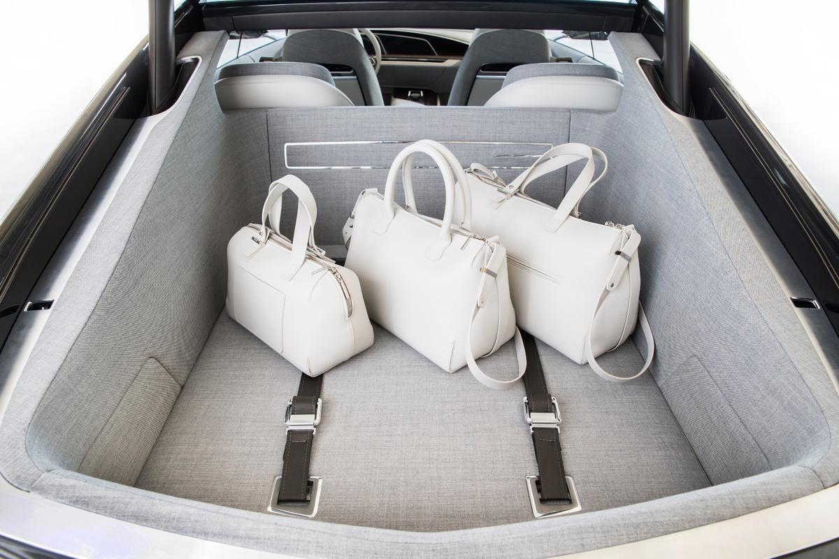 Cadillac has used suit fabric to trim the interior