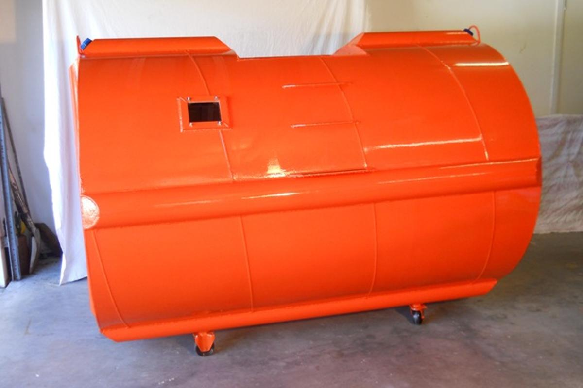 The Tsunami Survival Pod is a watertight, crush-proof capsule designed to allow its users to ride out tsunamis
