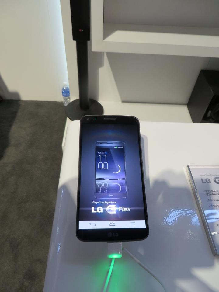 The LG G Flex officially launched at CES 2014