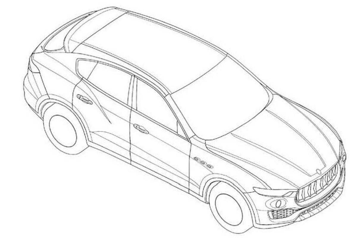 Patent drawings have provided the first glimpse of the styling of Maserati's Levante SUV