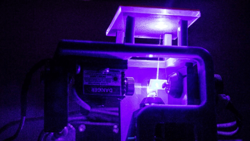 The experimental inverted laser