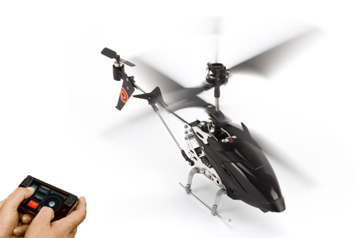 Griffin's HELO TC is controlled via an IOS device's touchscreen or accelerometer