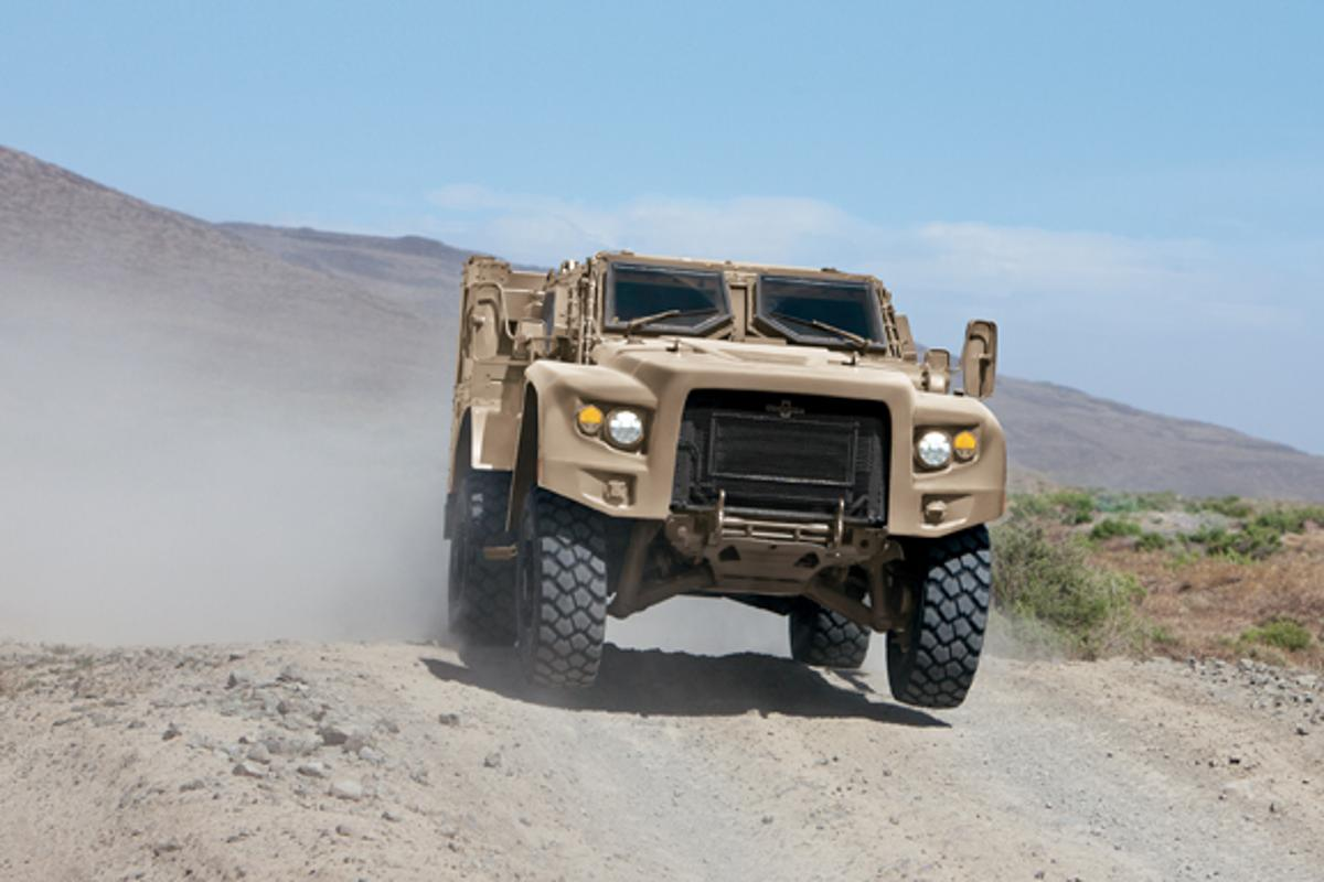 Oshkosh Defense's new light combat vehicle, the L-ATV, could replace the U.S. Military's Humvee