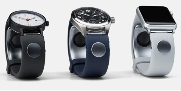 The Sgnl smart strap is compatible with most 18 - 24 mm classic and smart watches, including the Apple Watch, Samsung Gear, and Pebble Time