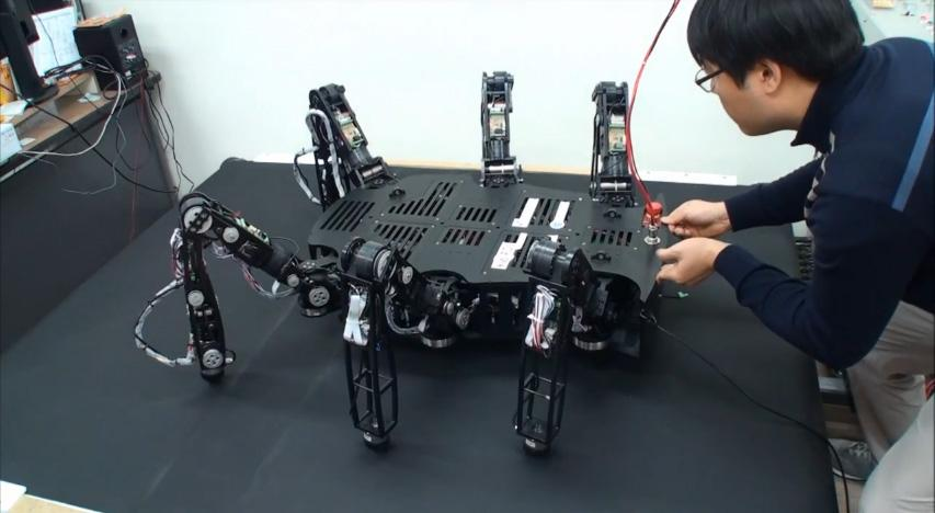 Little Crabster, a fraction of the size, was built to test walking and posture control