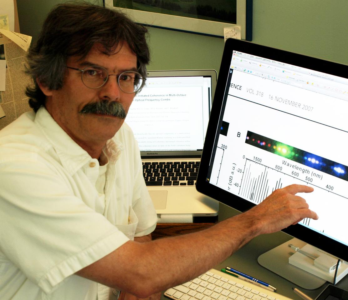 The University of Oregon's Michael G. Raymer has changed the color of individual photons within an optical cable